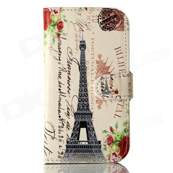 DF-006 Tower Pattern Protective Case with Card Slot and Stand for Samsung Galaxy Trend Lite S7390 кабель питания tripp lite p036 006 p036 006