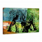 "Iarts AHA072932 Hand-painted ""Abstract Elephant"" Oil Painting - Black (60 x 40cm)"