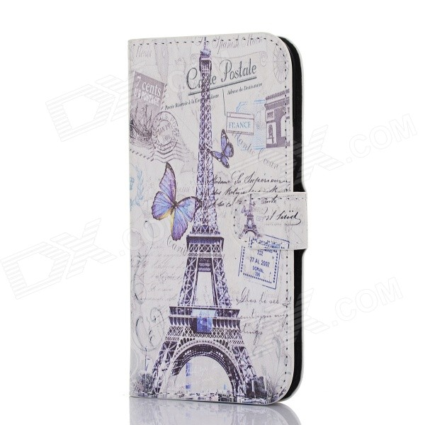 все цены на DF-005 Tower Pattern Protective Flip Open Case w/ Card Slot / Stand for HTC One / M8 - Multi-Color онлайн