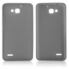 DF-002 Protective TPU Back Case w/ Anti-dust Plugs for Huawei Honor 3X G750 - Grey