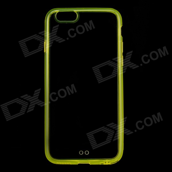 SMKJ Protective Plastic Back Case Cover for 4.7 IPHONE 6 - Translucent Yellow smkj protective plastic silicone back case w stand for iphone 6 4 7 black