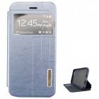 "Ultra-thin PU + TPU Leather Flip-open Case w/ Stand / Display Window for IPHONE 6 4.7"" - Blue"