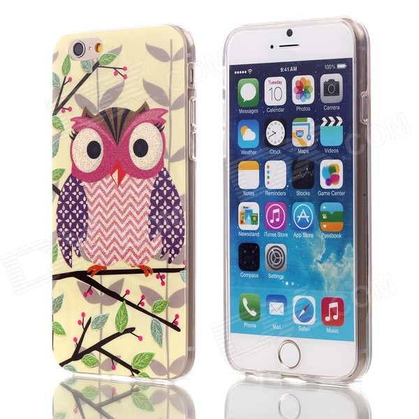 все цены на Shimmering Purple Wings Owl Pattern Protective TPU Back Case for 4.7