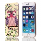 "Shimmering Purple Wings Owl Pattern Protective TPU Back Case for 4.7"" IPHONE 6 - Light Yellow"