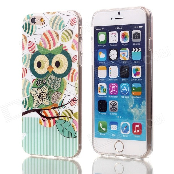 "Shimmering Green Wings Owl Pattern Protective TPU Back Case for 4.7"" IPHONE 6"