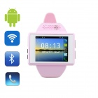"AN1 Android 4.1 GSM Smart Watch Phone w/ 2.0"" Capacitive Touch Screen, Wi-Fi, Bluetooth, GPS - Pink"