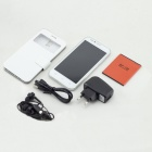 "C5000 Android 4.2 Dual-core WCDMA Bar Phone w / 5.0"" écran, Wi-Fi et GPS - Blanc"