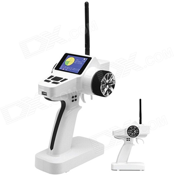 HJ TG-04C 2.4GHz 3-CH 2.4 Color LCD Transmitter + Receiver Set for R/C Aircraft / Car - White клюшка для гольфа nike vapor pro 2015
