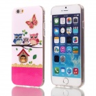 "Shimmering Cute Owl Pattern Protective TPU Back Case for 4.7"" IPHONE 6 - Pink + Multicolored"