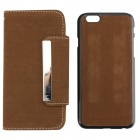 "High Quality PU Leather + PC Wallet Style Flip Open Case Card Slots for 4.7"" IPHONE 6 - Brown"