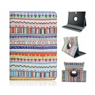 Tribal Lines 360 Degree Rotation PU Leather Case for Samsung Galaxy Tab S 10.5 T800 - Light Blue