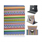 Tribal Lines 360 Degree Rotation PU Leather Case Stand for Samsung Galaxy Tab S 10.5 T800- Deep Blue