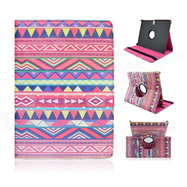 Tribal Lines 360 Degree Rotation PU Leather Case Stand for Samsung Galaxy Tab S 10.5 T800- Deep Pink protective 360 degree rotation holder pu leather case for samsung p6800 p6810 pink