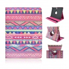 Tribal Lines 360 Degree Rotation PU Leather Case Stand for Samsung Galaxy Tab S 10.5 T800- Deep Pink
