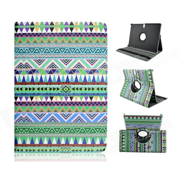 Фото Tribal Lines 360 Degree Rotation PU Leather Case Stand for Samsung Galaxy Tab S 10.5 T800 - Green 360 rotating litchi skin pu leather case cover for samsung galaxy tab s 10 5 t800 t801 t805 tablet pc smart case pen film otg