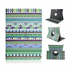 Tribal Lines 360 Degree Rotation PU Leather Case Stand for Samsung Galaxy Tab S 10.5 T800 - Green