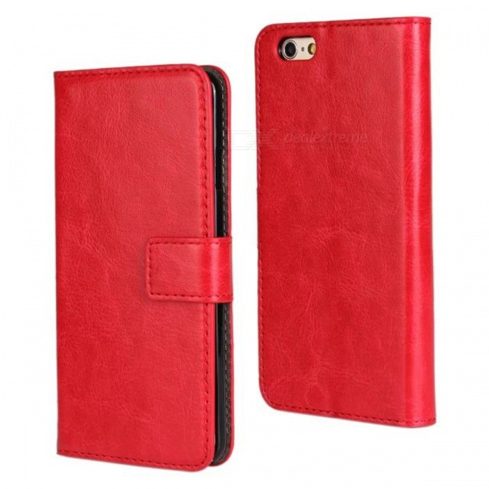Angibabe PU Leather Case w/ Card Slot + Stand for IPHONE 6 4.7 - RedLeather Cases<br>Form  ColorRedBrandAngibabeModelABCD321Quantity1 DX.PCM.Model.AttributeModel.UnitMaterialPUShade Of ColorRedCompatible ModelsIPHONE 6StyleFull Body CasesDesignSolid ColorAuto Wake-up / SleepNoPacking List1 x Case<br>