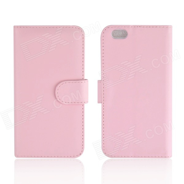 Angibabe PU Leather Case w/ Card Slot + Stand for IPHONE 6 4.7 - Pink jeans cloth card holder stand pu leather shell for iphone 6s 6 4 7 inch pink
