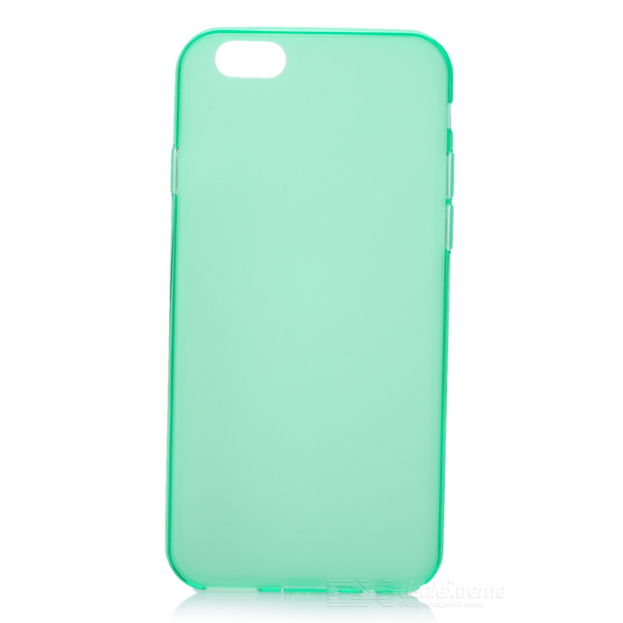 Fashion Protective TPU Back Case for 4.7 IPHONE 6 - Light Green glossy tpu gel back protection case for iphone 7 plus light purple