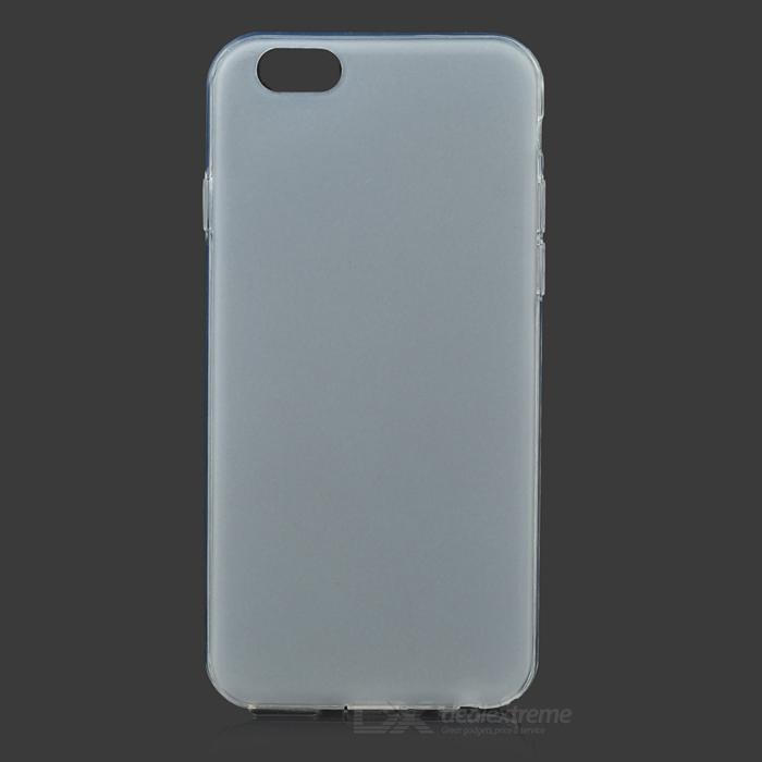 Moda Frosted TPU Back Case para IPHONE 6 - Branco + Transparente