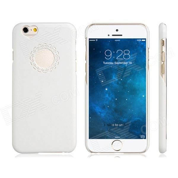 "Protective PC Back Case para iPhone 6 4.7 ""- Branco"