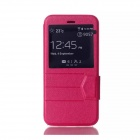 "Protective PU flip aberto caso w / View Window / stand para 4.7 ""IPHONE 6 - Pink"