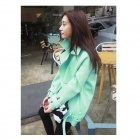 CM-91 Stylish Three-Dimensional Cutting Space Cotton Coat Jacket - Light Green (M)