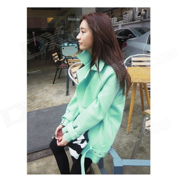 CM-91 Stylish Three-Dimensional Cutting Space Cotton Coat Jacket - Light Green (L)