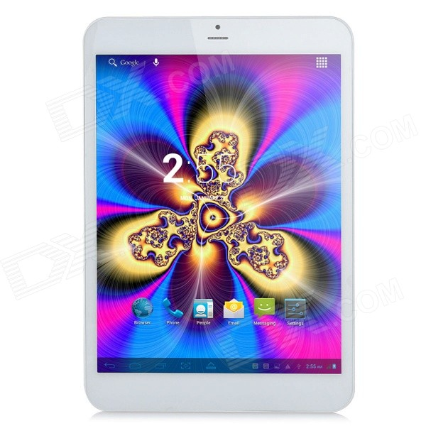 SUNJUNT Q785 7.85 IPS Quad-Core MTK 8382 Android 4.2 3G Phone Tablet PC w/ GPS, Wi-Fi - White