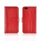 "Angibabe Crocodile Skin Pattern Split Leather Case w/ Card Slot + Holder for IPHONE 6 4.7"" - Red"
