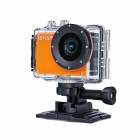 "Waterproof FHD 1080P 1.5"" LCD 1.2MP CMOS Wi-Fi DV Sports Camera for Phone / Tablet - Orange"