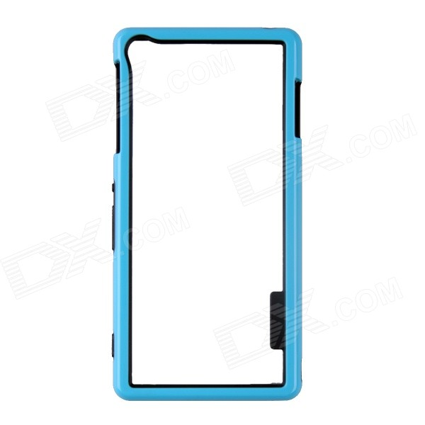 Protective TPU + PC Bumper Frame Case for Sony Xperia Z3 - Blue + Black protective tpu   pc bumper frame for lg