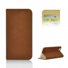 "Angibabe Matte Protective PU Case w/ Stand / Card Slot for IPHONE 6 4.7"" - Brown"