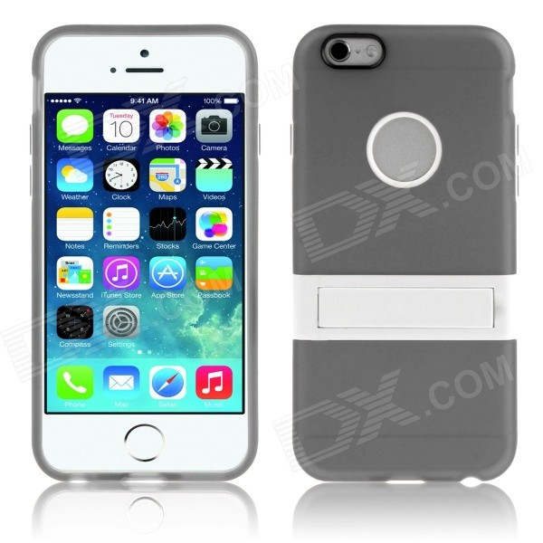 ENKAY Protective TPU Case w/ Stand for IPHONE 6 Plus - Grey аксессуар защитное стекло ainy 0 25mm для apple iphone 7
