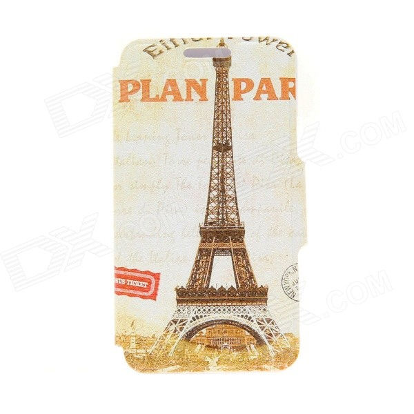 Kinston Eiffel Tower Pattern PU Leather + Plastic Flip Open Case w/ Stand for IPHONE 6 4.7 kinston music girl pattern pu plastic flip open case w stand card slot for iphone 6 plus