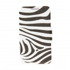 "Kinston Zebra Pattern PU Leather + Plastic Flip Open Case for IPHONE 6 4.7"" - Black + White"