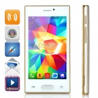 "Z9005 Android 4.4 Dual-core WCDMA Bar Phone w/ 4.0"" Screen, Wi-Fi and Bluetooth - Champagne Gold"