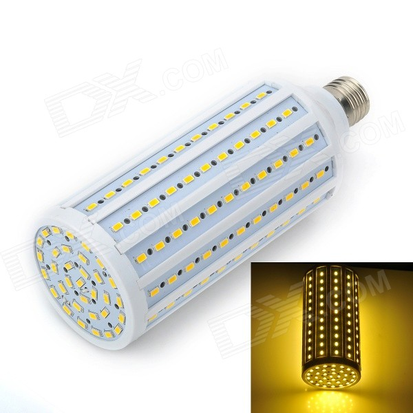 Marsing E27 28W 2300LM 3500K 165-5730 SMD LED Warm White Light Corn Bulb - White (AC 220~240V)