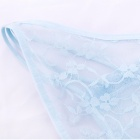 Women's Sexy Lace + Nylon Underwear - Light Blue
