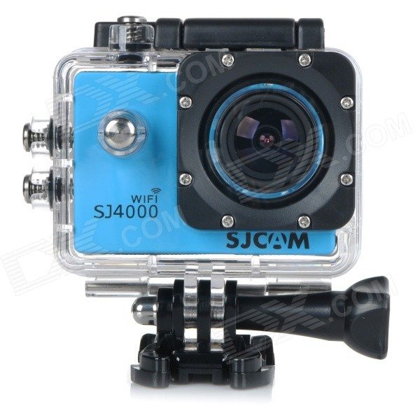 SJCAM SJ4000 Wi-Fi 1.5 TFT 1080P HD 2/3 CMOS 12MP Outdoor Sport Camera w/ Waterproof Case - Blue лицевая панель legrand celiane для розетки 2хrj45 белый 68252