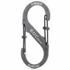 EDCGEAR Stainless Steel Anti-theft Lock Key Buckle - Black (L)