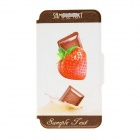 "Kinston KST91686 Strawberry Patterned PU Leather Full Body Case w/ Stand for 4.7"" IPHONE 6 - Red"