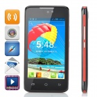 "H-mobile F2 Android 4.2 GSM Dual-core Bar Phone w/ 4.0"" Screen, Wi-Fi and Quad-band - Black + Red"