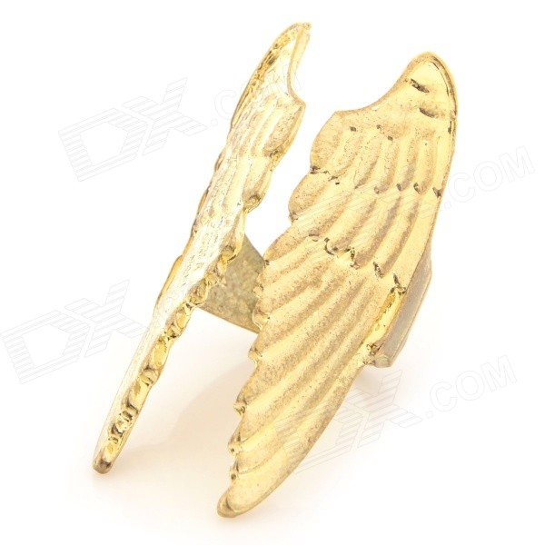 FenLu FL-030 Women's Creative Zinc Alloy Wings Shaped Ring - Golden (U.S Size 4.5) 40cm 12w acryl aluminum led wall lamp mirror light for bathroom aisle living room waterproof anti fog mirror lamps 2131