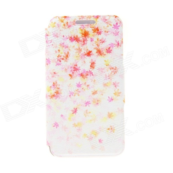 Kinston Maple Leaf Pattern Protective PU Leather + Plastic Flip Open Case w/ Stand for IPHONE 6 4.7 kinston music girl pattern pu plastic flip open case w stand card slot for iphone 6 plus
