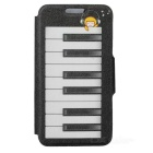 "Kinston KST91695 Piano Patterned PU Leather Full Body Case w/ Stand for 4.7"" IPHONE 6 - White"