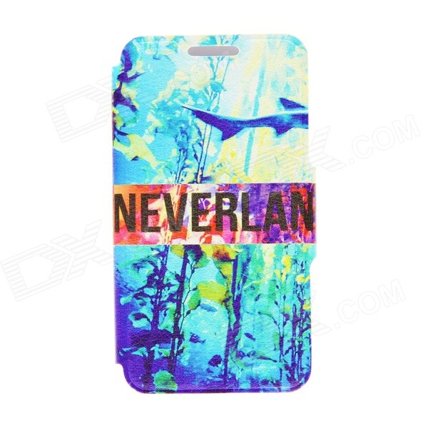 Kinston KST91699 Sea World Patterned PU Leather Full Body Case w/ Stand for 4.7 IPHONE 6 - Blue kinston i love you patterned pu leather full body case w stand for motorola moto g black red