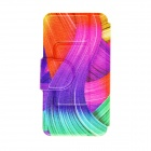 "Kinston KST91684 Colorful Ribbon Pattern Leather Case w/ Stand for IPHONE 6 4.7"" - Multicolored"