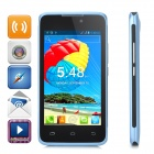 "H-mobile F2 Android 4.2 Dual-core GSM Bar Phone w/ 4.0"" Screen, Wi-Fi and Quad-band - Blue + Black"