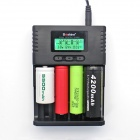 "Soshine H4 1.5"" LCD Charger for Li-ion, LiFePO4, 26650, 18650, AA, AAA"